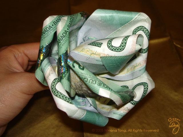 DIY Rose Dollar Money Origami Flower Gift Bills Paper Tutorial ... | 480x640